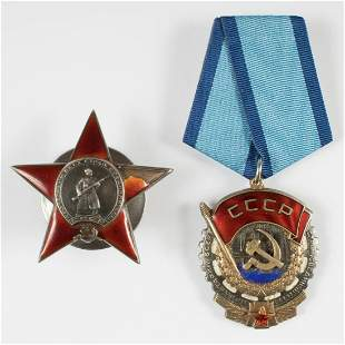 SOVIET ORDERS RED STAR & RED BANNER (2)