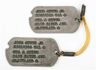WWII U.S. ARMY PAIR OF DOG TAGS