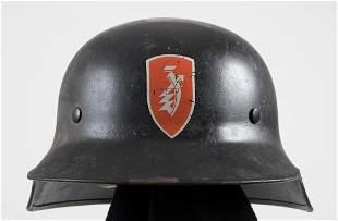 GERMAN WWII ZUNDAPP FACTORY LUFTSCHUTZ HELMET