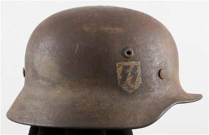 GERMAN WAFFEN-SS M40 SINGLE DECAL HELMET