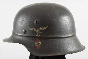 HITLER YOUTH FLAK HELPER'S HELMET