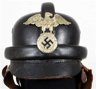 WWII GERMAN NSKK MOTORCYCLE HELMET