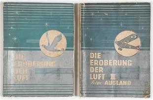 WWII GERMAN CIGARETTE ALBUMS CONQUEST OF AIR VOL I & II
