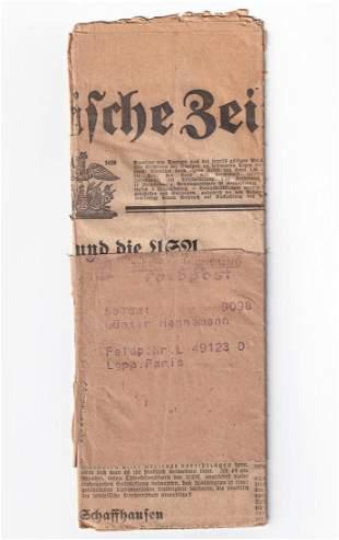 WWII GERMAN FELDPOST TO PARIS