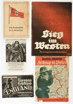 WWII GERMAN PROPAGANDA EPHEMERA GROUP (5)