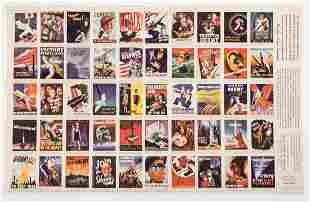 WWII US PROPAGANDA POSTER STAMPS COLLECTION