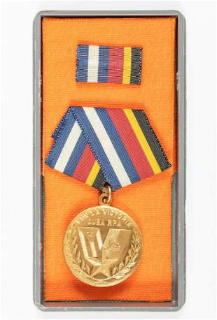 CUBAN MEDAL FOR VICTORY IN ANGOLA