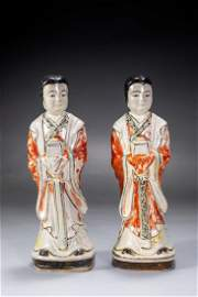 PAIR OF BEAUTIFUL LADY PORCELAIN FIGURINES