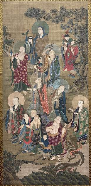 A CHINESE PAINTING OF IMMORTALS, ANONYMOUS