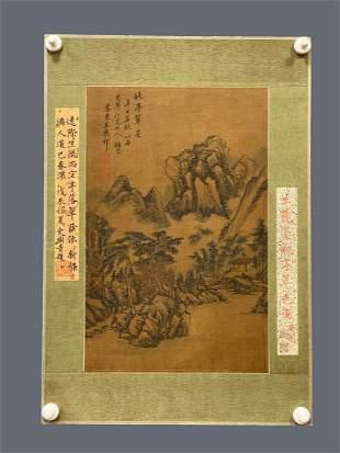 CHINESE PAINTING OF LANDSCAPE, WANG YUANQI