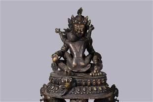 A COPPER STATUE OF GUHYASAMAJA TANTRA