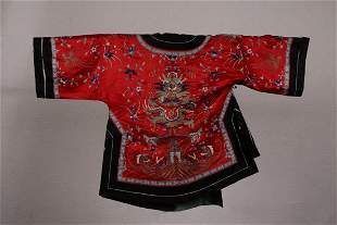 A BROCADE ROBE OF FIVE-CLAW DRAGON PATTERN