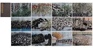 A PAINTING ALBUM OF LANDSCAPE, WU GUANZHONG