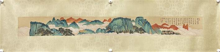 A CLABORATE-STYLE PAINTING, CHANG DAI-CHIEN