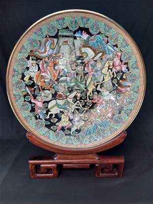 LARGE CHINESE BATTLE SCENE CHARGER