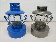 Pair of Railroad Lanterns - UE Co - MD & Ohio Fuel Gas