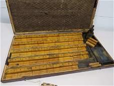 Vintage Wooden Printing Blocks  Letters and Numbers
