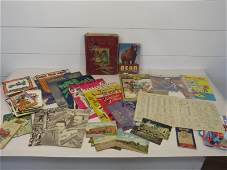 Large Ephemera Collection: Books, Manuals, Postcards,