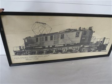 1929 Cleveland Union Terminal Railroad RR Framed