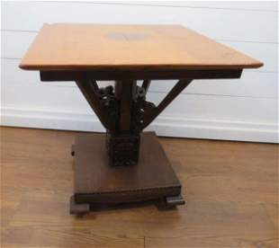 Craftsman Carved Parlor Table