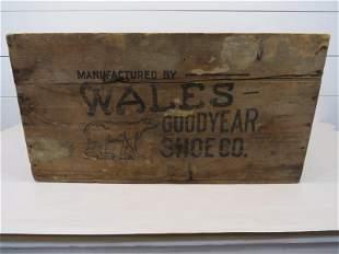 Wales Goodyear Shoe Co Crate - Polar Bear Trademark