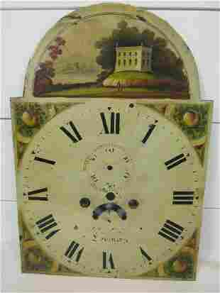 19th Century Painted Cast Iron Grandfather Clock Face