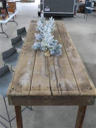 Incredible Large Harvest Plank Table