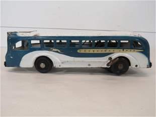 Antique Buddy L Art Deco Toy Steel Wind Up Greyhound