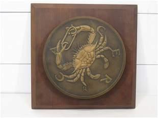 Franklin Mint Limited Edition Cancer Zodiac Bronze