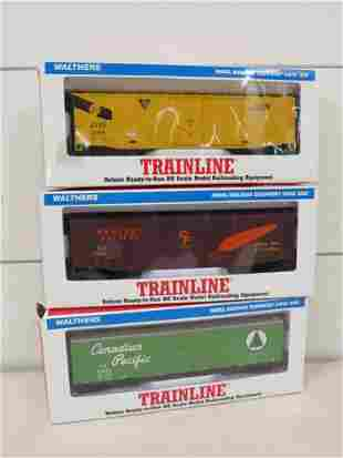 HO Scale Walthers Train Line Freight Cars (3)