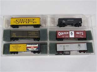 Custom Painted Micro-Trains N Scale Freight Cars (6)