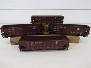 HO Scale Pennsylvania RR Hopper Cars (4)