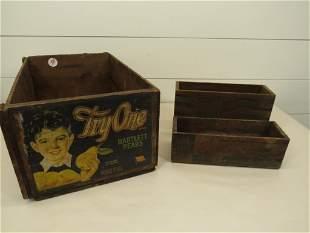 Bartlett Pears, Kraft & Blue Label Wood Crates (3)
