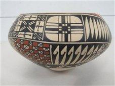 Mata Ortiz New Mexico Maria Saenz Bowl