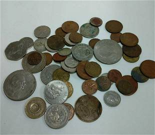 Mixed Assortment of Foreign Coins (50)