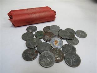 1930's & Earlier Wheat Pennies & 24 Steel Pennies