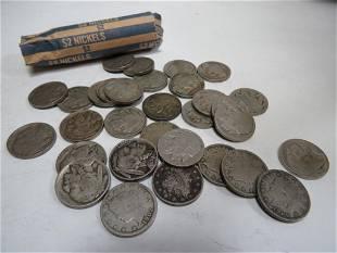 Lot of Nickels- Liberty, Buffalo and Jefferson