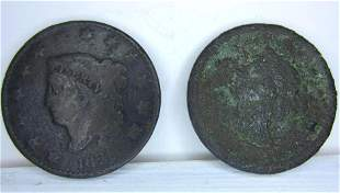 1828 & 18?? Liberty Head One Cent Pennies