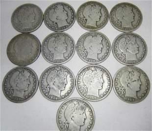 1900's Barber Half Dollars (13)
