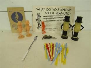 Vintage Lot of Mr. Peanut Advertising