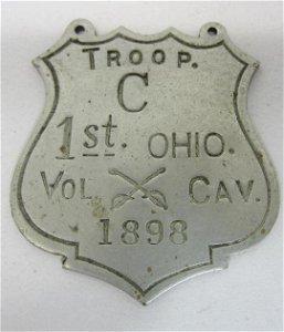 1898 Troop C 1st. Ohio Vol. Calvary Badge
