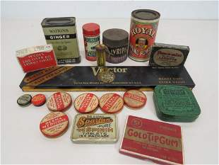Lot of Advertising Tins & Boxes (18)