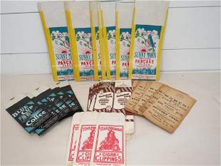 Lot of Vintage Product Bags-Flour, Coffee