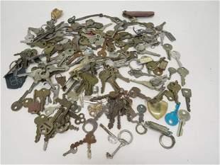 Large Lot of Car & Lock Keys