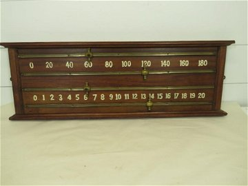 Antique Snooker Tavern Score Board