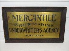 Antique Mercantile Insurance Sign