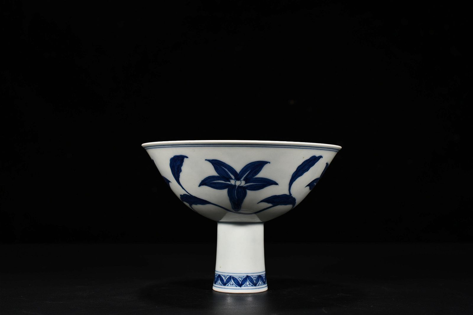 A Blue and White Steam Cup