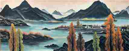 A Chinese Painting By Lin Fengmian on Paper Album