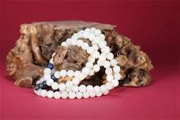 White Jade Beaded Rosary Qing Dynasty