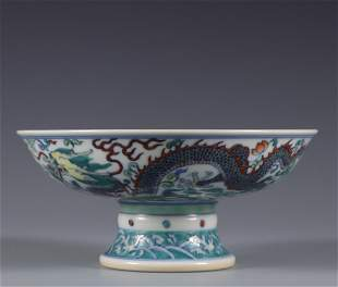 A Famille Verte Dragon Tureen Qing Dynasty